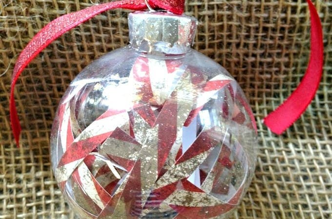12 Days of DIY Christmas Ornaments: Scrap Paper Ornament