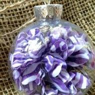12 Days of DIY Christmas Ornaments: Silk Flower Ornament