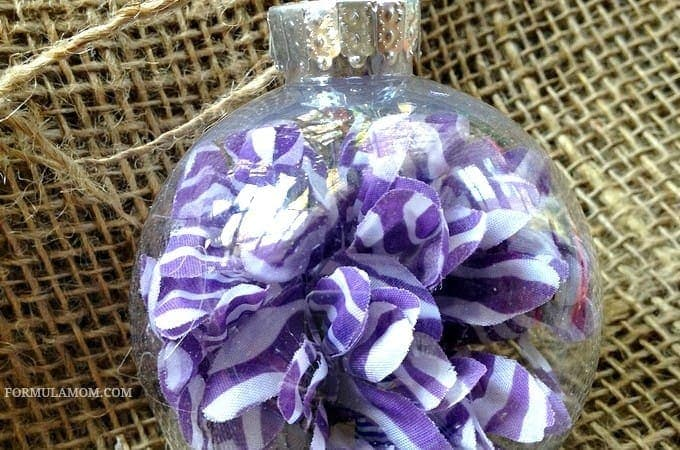 12 Days of DIY Christmas Ornaments: Silk Flower Ornament