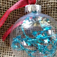 12 Days of DIY Christmas Ornaments: Tinsel Ornament