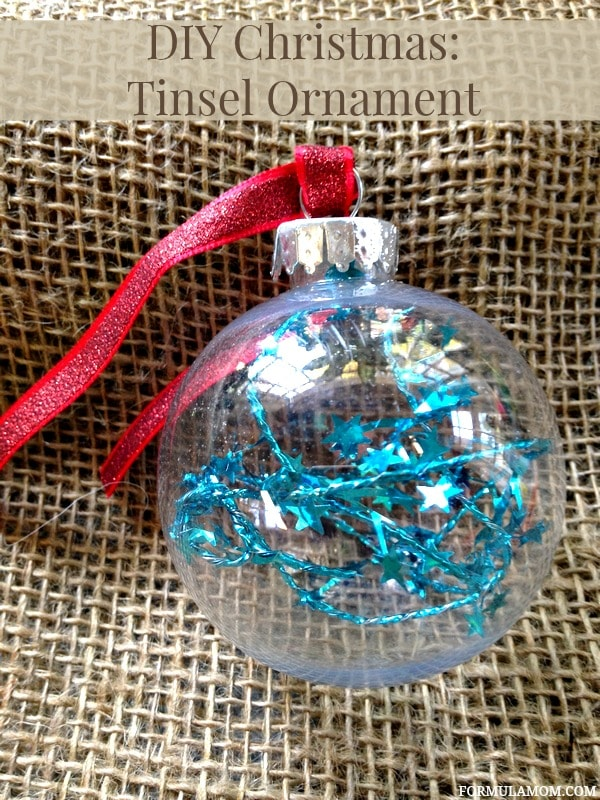 12 Days of DIY Christmas Ornaments: Tinsel Ornament #Christmas #DIY
