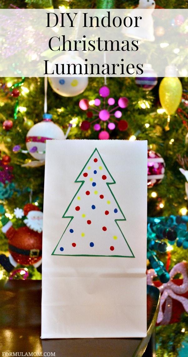 Easy DIY Luminaries for Christmas #Christmas #DIY