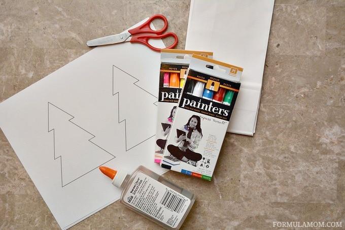 Supplies to Make DIY Luminaries for Christmas #Christmas #DIY #crafts