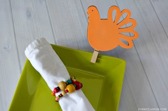 Easy Thanksgiving Turkey Place Cards