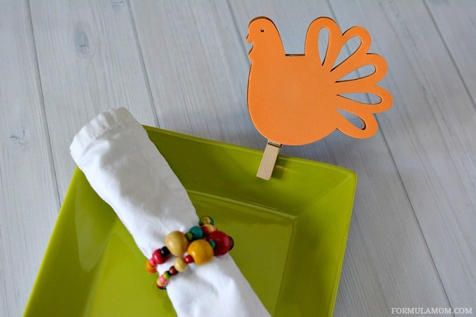 Easy Thanksgiving Turkey Place Cards Craft #Thanksgiving