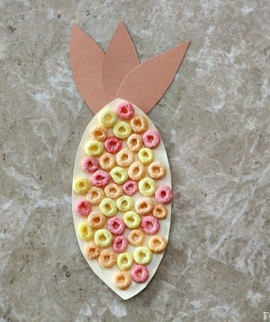 Fruit Loop Indian Corn Craft for Kids #Thanksgiving