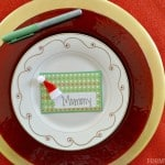 Homemade Christmas Place Cards