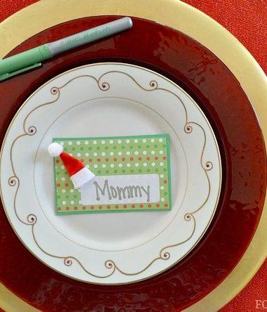 Homemade Christmas Place Cards Craft #BICMerryMarking #EmeraldGreen
