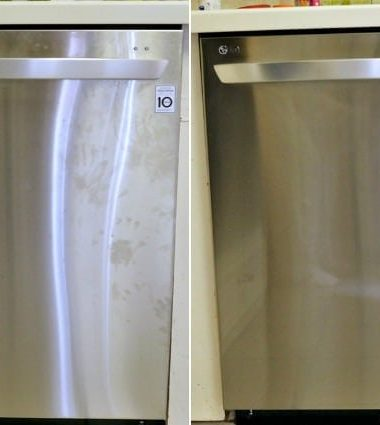 Meister Cleaners on Stainless Steel Dishwasher - The Before and After