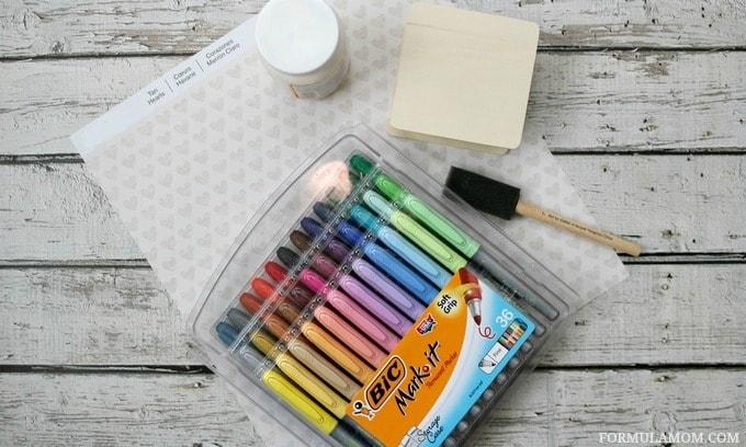 Thanksgiving Crafts for Families: Thankful Box #BIC MerryMarking #PetalPink