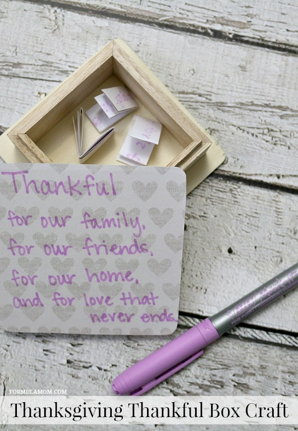 Thanksgiving Crafts for Families: Thankful Box