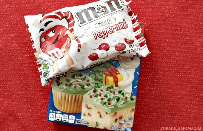 Easy Christmas Cookies: Peppermint Cake Mix Cookies Ingredients #HolidayBaking