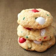 Easy Christmas Cookies: Peppermint Cake Mix Cookies