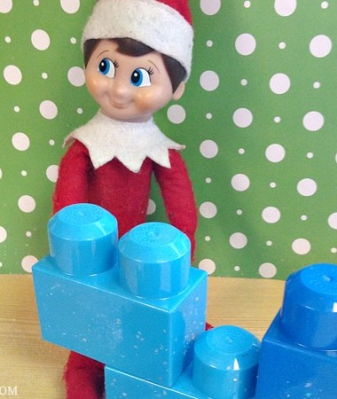 Easy Elf on the Shelf Ideas: Block Party #ElfontheShelf