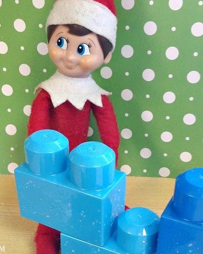 Easy Elf on the Shelf Ideas: Block Party #ElfontheShelf
