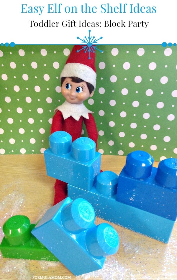 Easy Elf on the Shelf Ideas: Toddler Block Party #ElfontheShelf