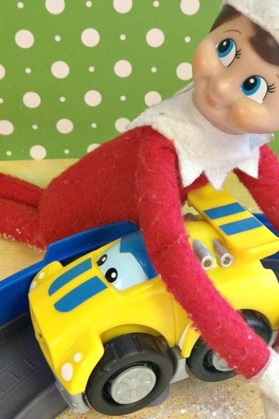 Easy Elf on the Shelf Ideas: New Toy Car #ElfontheShelf