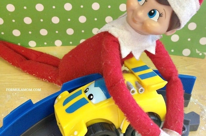Easy Elf on the Shelf Ideas: Elf's Got a New Car
