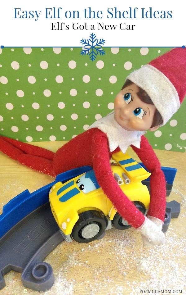 Easy Elf on the Shelf Ideas: Elf's Got a New Car #ElfontheShelf