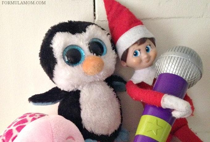 Easy Elf on the Shelf Ideas: Throw a Karaoke Party! #ElfontheShelf