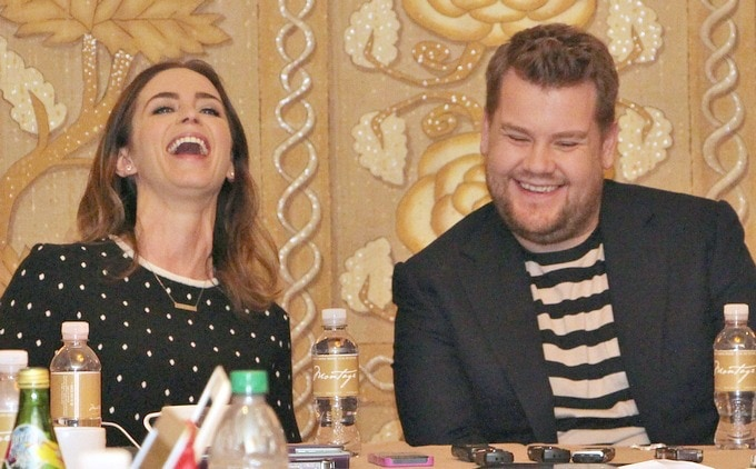 Emily Blunt, and James Corden and The Mom Bloggers #IntoTheWoods #IntoTheWoodsEvent