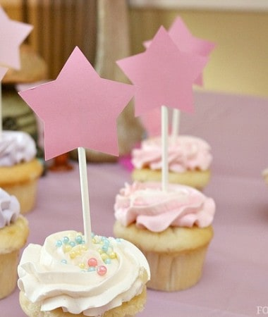 Fairy Party Decorations: Magic Wand Cupcake Toppers #DIY