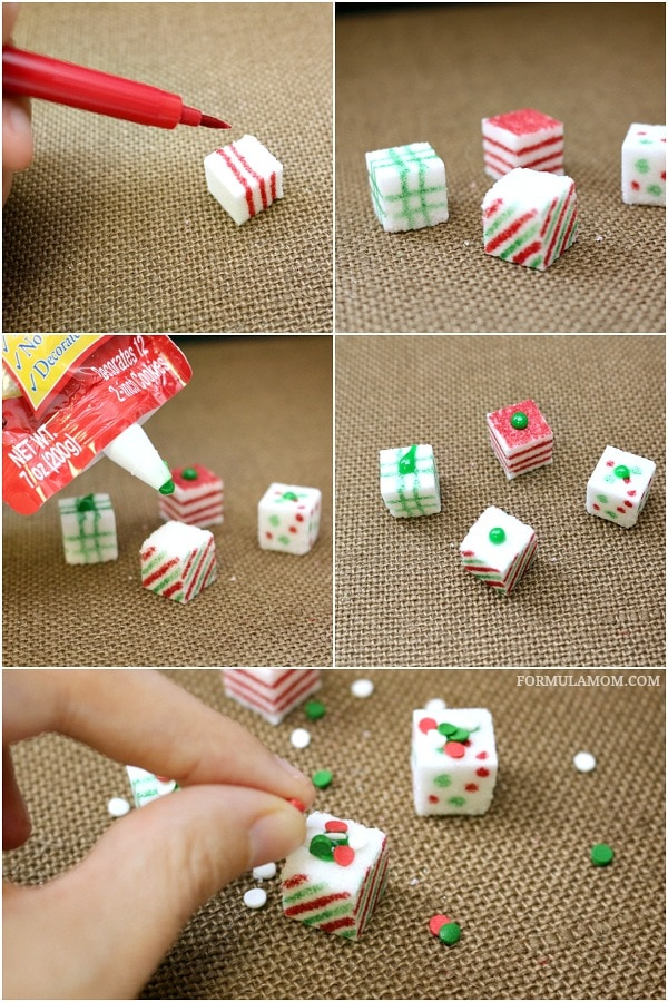 Homemade christmas crafts sugar cube presents sponsored diy