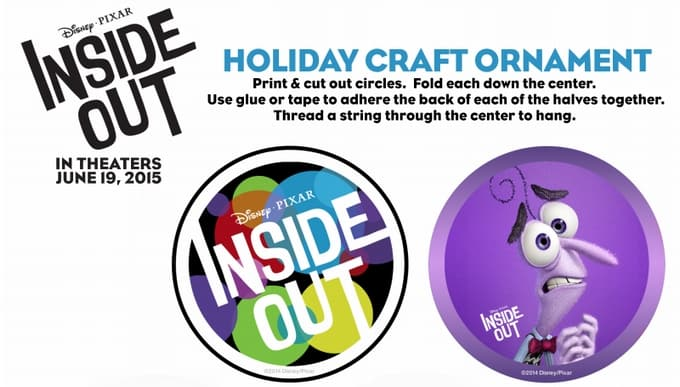 Last Minute Christmas Crafts with Disney/Pixar's Inside Out