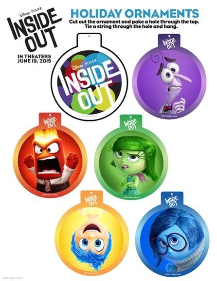 Last Minute Christmas Crafts with Disney/Pixar's Inside Out #InsideOut