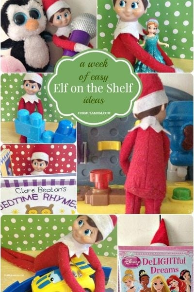 A Week of Easy Elf on the Shelf Ideas #ElfontheShelf