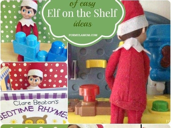 A Week of Easy Elf on the Shelf Ideas