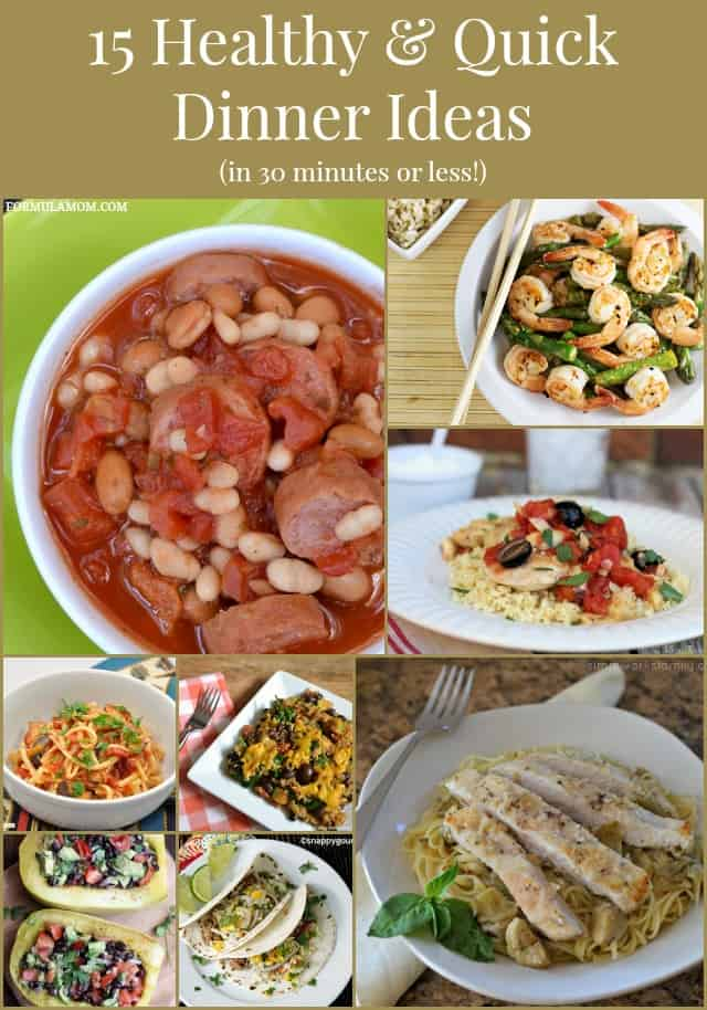15 Healthy & Quick Dinner Ideas #foodie