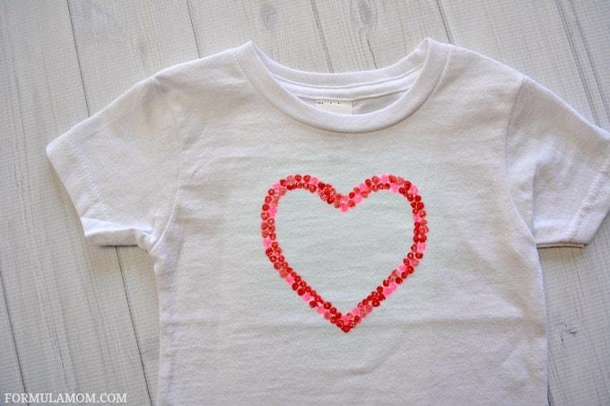 7c9ff724 DIY Valentine Shirts for Kids #ValentinesDay #crafts #diy