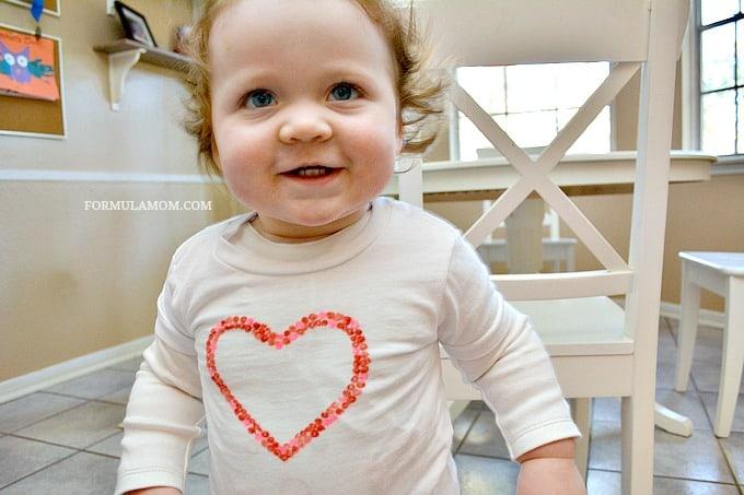 DIY Valentine Shirts fir Kids #ValentinesDay #crafts #diy