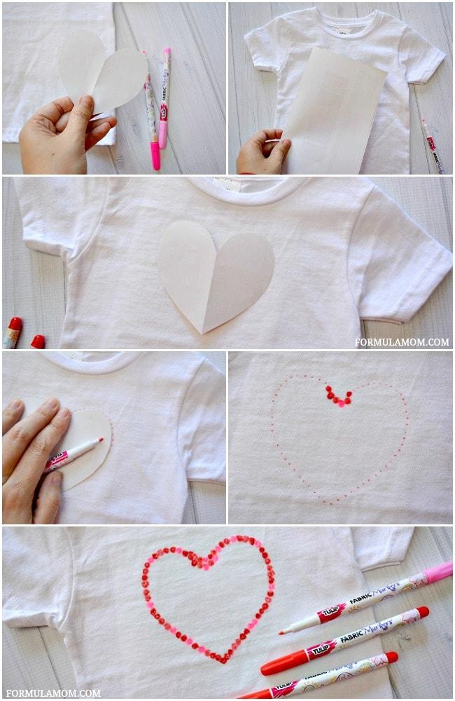 How to Make DIY Valentine Shirts for Kids #ValentinesDay #crafts