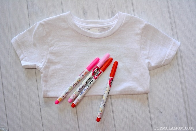 What You Need to Make DIY Valentine Shirts for Kids #ValentinesDay #crafts