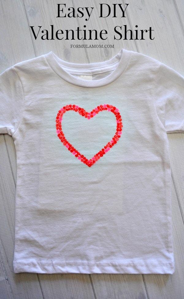 95c0a308 DIY Valentine Shirts for Kids #ValentinesDay #crafts