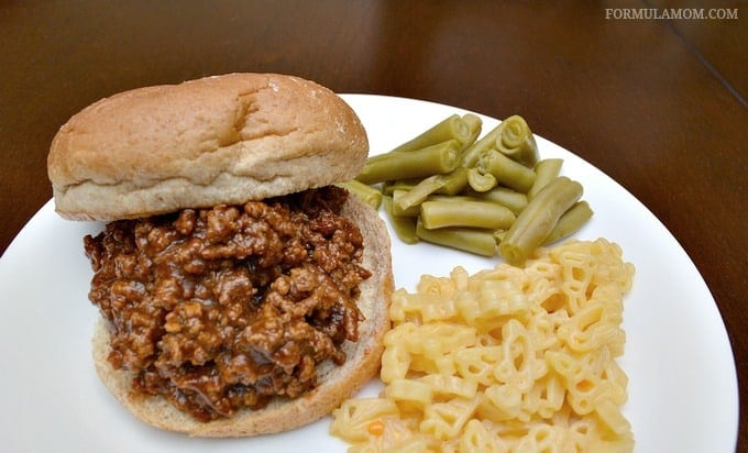 Easy Dinner Ideas: Sloppy Joes, Macaroni & Cheese, and Green Beans