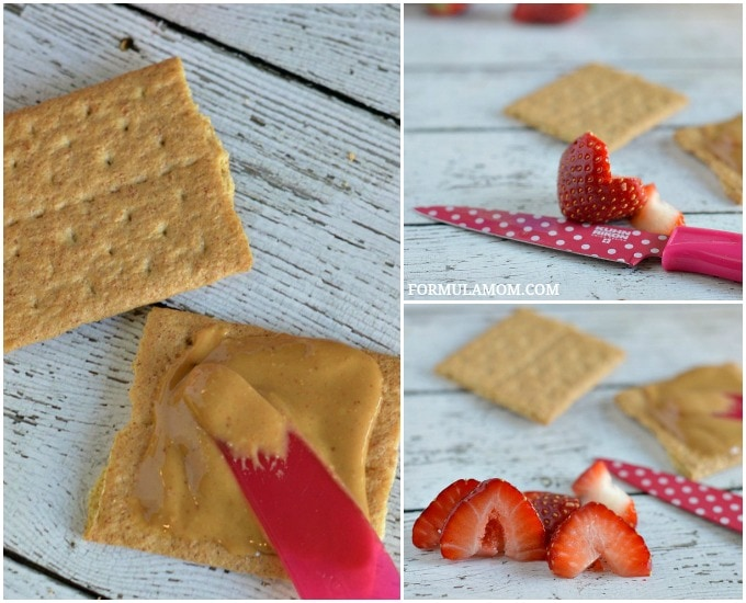 How to Make Easy Valentine Snacks: Graham Cracker Smile #ValentinesDay