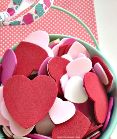 Kid Friendly Valentine Crafts: Bucket of Kisses