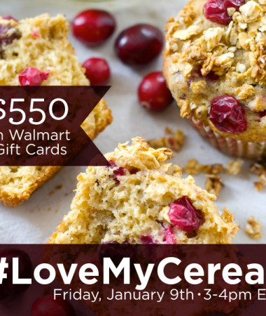 #LoveMyCereal Twitter Party 1/9 3-4pm ET #TwitterParty #ad #cbias