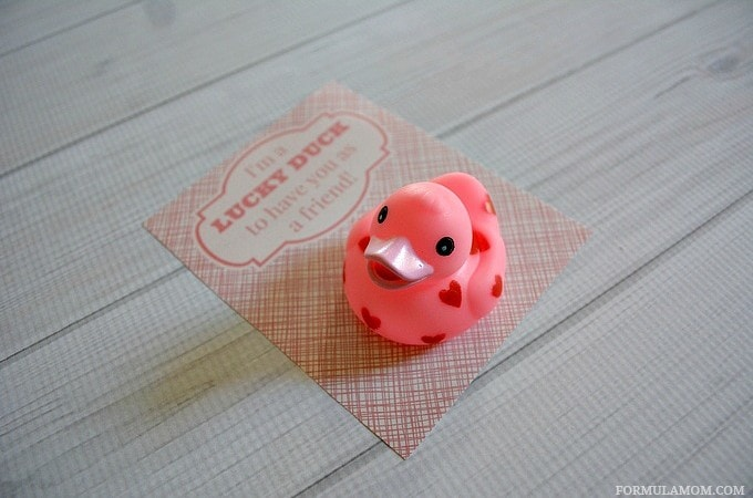 No Candy Valentines Ideas: Lucky Duck (with printable!)