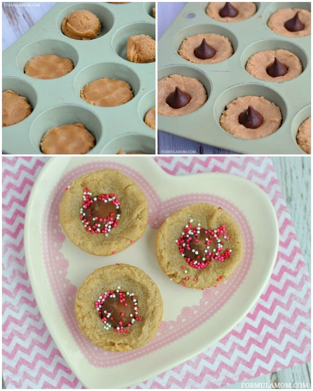 How to Make Peanut Butter Valentine Kiss Cookies #ValentinesDay #cookies