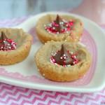 Peanut Butter Valentine Kiss Cookies