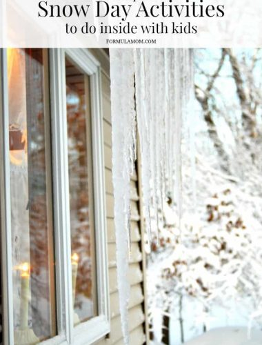 Simple Snow Day Activities to Do With the Kids Inside #snowday #winter