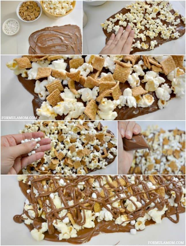 How to Make Smores Popcorn Bark #smores #recipe