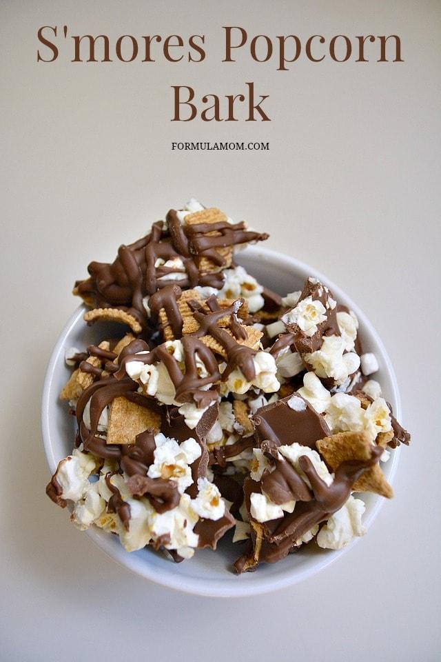 Smores Popcorn Bark Recipe #smores