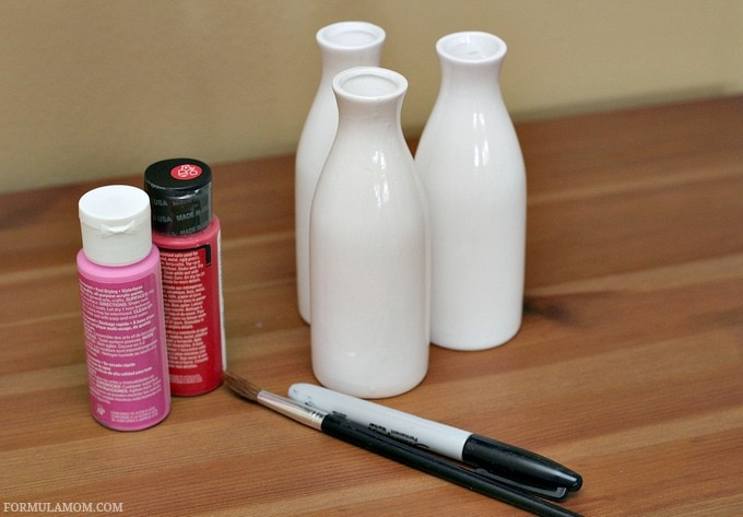 Valentine Crafts for Preschoolers: Fingerprint Vase Materials #ValentinesDay #crafts