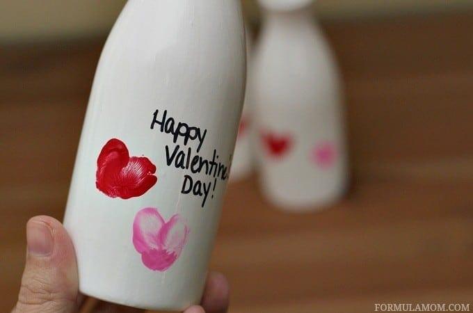 Easy Valentine Crafts for Preschoolers: Fingerprint Vase