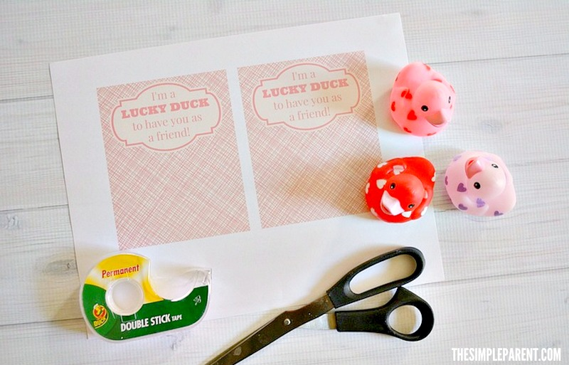 Check out what you need to make rubber duck valentines!